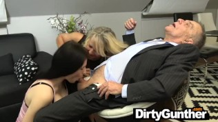I Didn't Know Old Gunther Still Had It – Threesome Delight!
